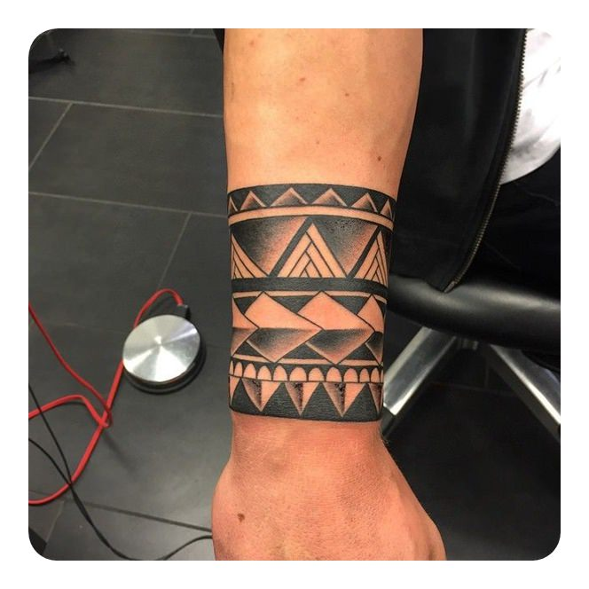 Polynesian Tribal Armband Tattoo Designs