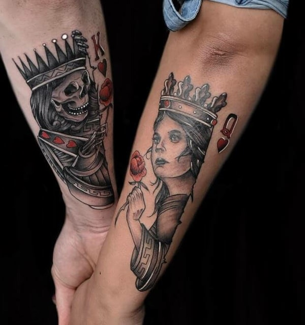 King And Queen Tattoos Ideas