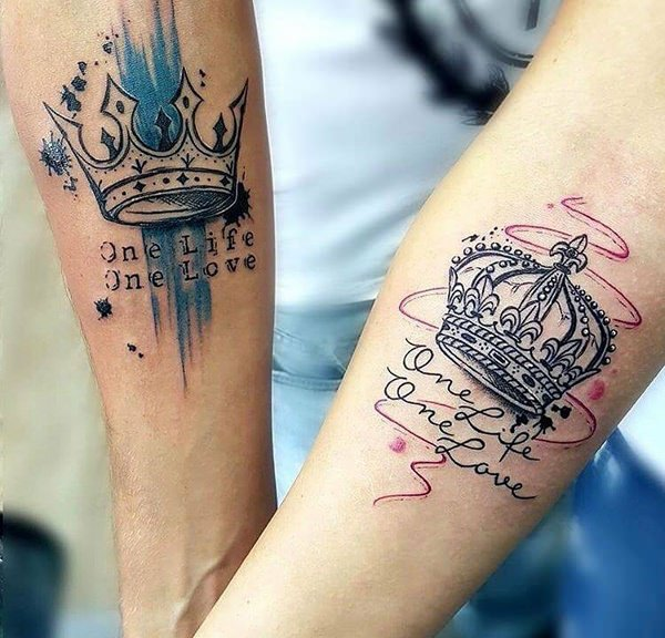 King And Queen Tattoos For Couples