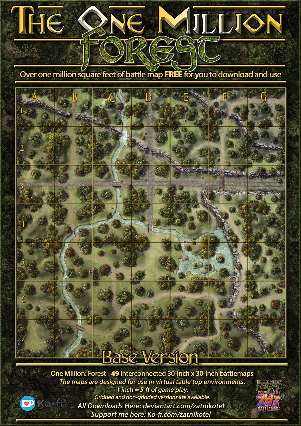 Forest Dnd Map : forest, Million, Square-Feet, Battle, Souls
