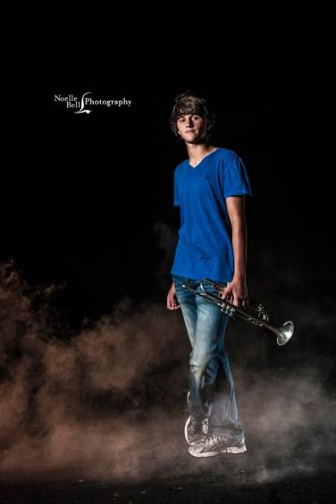 Senior Pictures Knoxville TN, Hardin Valley Academy, Senior Guy, Outdoor Senior Portraits, Senior, Band Pictures, Trumpet