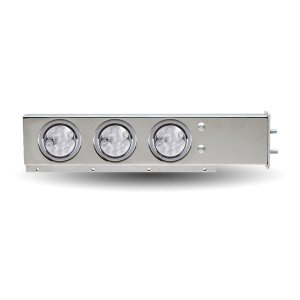 """Trux Accessories Flat Top Mud Flap Hanger with 4"""" Clear LEDs"""
