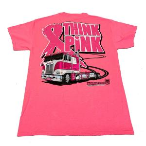Bells-And-Whistles-Chrome-Shop-Trucks-Aftermarket-Accessories-Apparel-Big Rig Tees- Think Pink Tee-Peterbilt-Kenworth-Freightliner-Mack-Volvo-Lonestar
