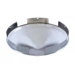 United Pacific 5 Even Notched Chrome Pointed Front Hub Cap - 1