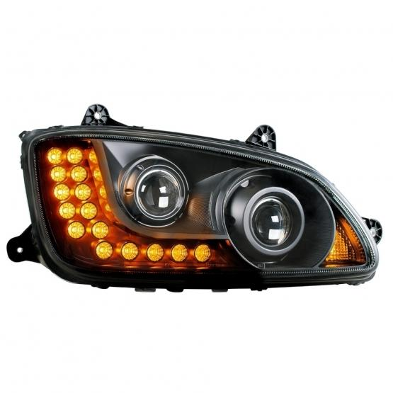 """United Pacific """"Blackout"""" Kenworth T660 Projection Headlight Assembly"""