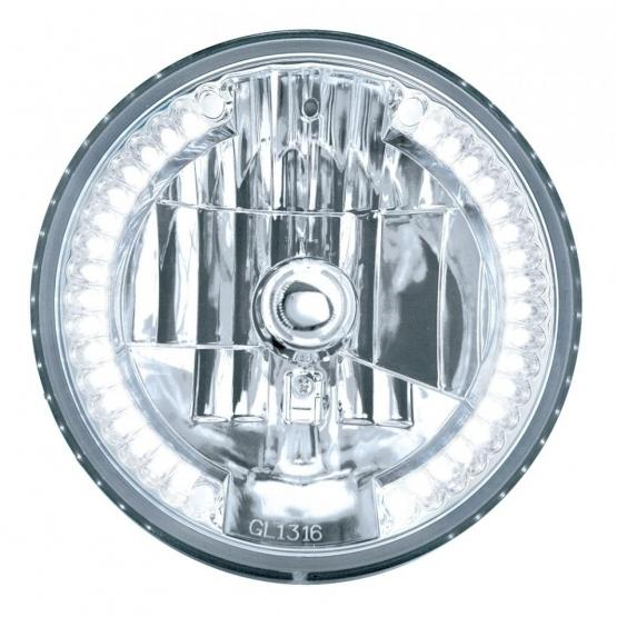 Bells-And-Whistles-Chrome-Shop-Trucks-Aftermarket-Accessories-Headlight-United Pacific-White Crystal Headlight-Peterbilt-Kenworth-Freightliner-Mack-Volvo-Lonestar