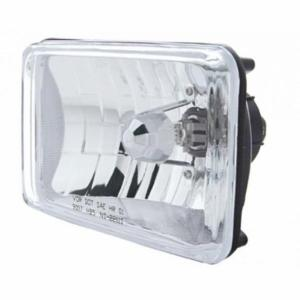 "United Pacific 4"" x 6"" Crystal Headlight - High Beam Only"