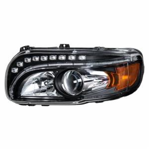 United Pacific Blackout Projection Headlight w/ LED Position & Turn Signal Light For 2008+ Peterbilt 388/389