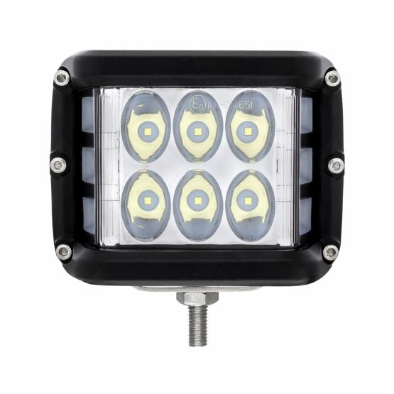 United Pacific 12 LED High Power Work Light with Side Firing LED Light