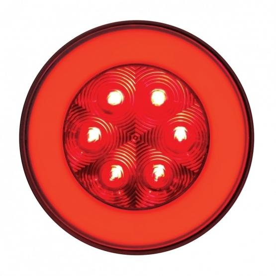 "United Pacific  4"" GLO Stop, Turn & Tail Light - Red LED/Red Lens"