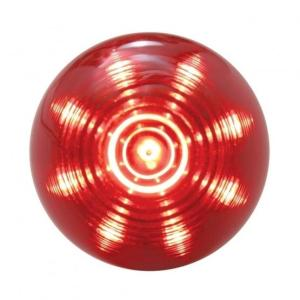 Bells-And-Whistles-Chrome-Shop-Trucks-Aftermarket-Accessories-Lighting-United Pacific-Beehive Clearance Marker Light Red LED Red Lens-Peterbilt-Kenworth-Freightliner-Mack-Volvo-Lonestar
