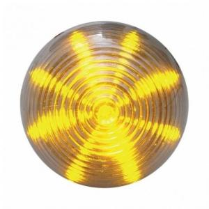 "United Pacific 13 LED 2 1/2"" Beehive Clearance/Marker Light - Amber LED/Clear Lens - On"