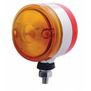 "United Pacific 15 LED 3"" Double Face Light - Amber & Red LED/Amber & Red Lens"