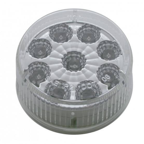 Bells-And-Whistles-Chrome-Shop-Trucks-Aftermarket-Accessories-Lighting-United Pacific-LED Reflector Marker Light Amber LED Clear Lens-Peterbilt-Kenworth-Freightliner-Mack-Volvo-Lonestar