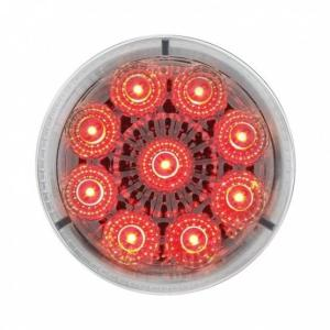Bells-And-Whistles-Chrome-Shop-Trucks-Aftermarket-Accessories-Lighting-United Pacific-Red LED Clear Lens Reflector Marker Light-Peterbilt-Kenworth-Freightliner-Mack-Volvo-Lonestar