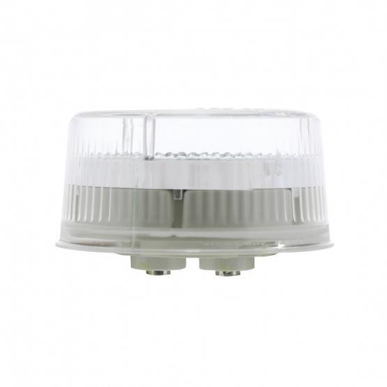 Bells-And-Whistles-Chrome-Shop-Trucks-Aftermarket-Accessories-Lighting-United Pacific-Red LED Clear Lens Reflector Marker Light-Peterbilt-Kenworth-Freightliner-Mack-Volvo-Lonestar