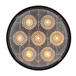 """United Pacific 4"""" Competition Series Turn Signal Light - Amber LED/Clear Lens"""