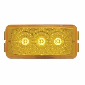 United Pacific 3 LED Reflector Clearance/Marker Light - Amber LED/Amber Lens