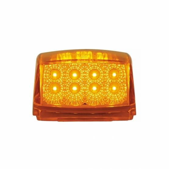 United Pacific Amber Reflector Square Cab Light- Light On Front View