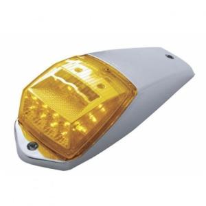 United Pacific 17 LED Amber Reflector Square Cab Light Kit