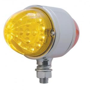 United Pacific 17 LED Dual Function Reflector Double Face Light - Amber & Red LED/Amber & Red Lens