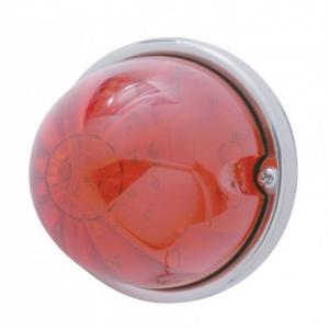 United Pacific17 LED Watermelon Flush Mount Kit w/ Low Profile Bezel - Red LED/Red Lens