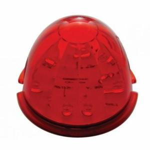 United Pacific 17 LED Dual Function Watermelon Cab Light - Red LED/Red Lens