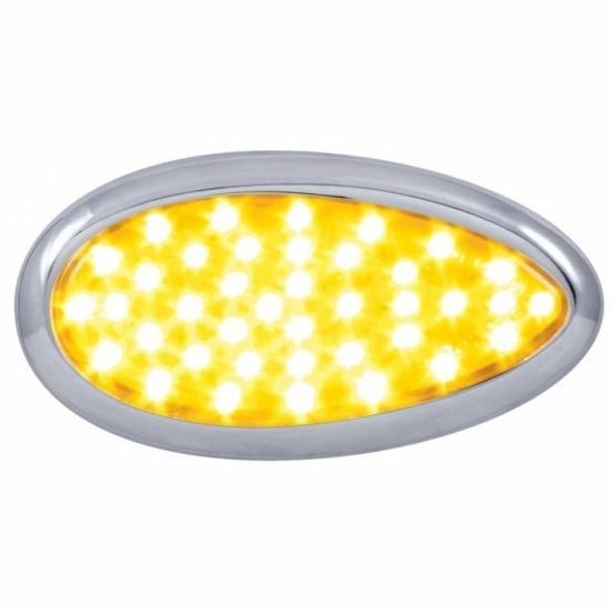 United Pacific 39 LED Freightliner Cascadia Teardrop Signal Light - Amber LED/Amber Lens