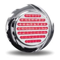 "Trux Accessories 4"" Flatline Clear Red LED Stop, Turn, & Tail Light with Flange Mount On"