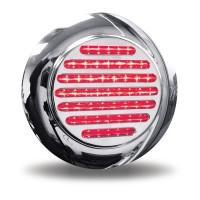 """Trux Accessories 4"""" Red Stop, Turn & Tail to White Back Up LED Light with Flange Mount"""