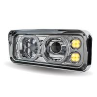 Bells-And-Whistles-Chrome-Shop-Trucks-Aftermarket-Accessories-Headlights-Trux-Accessories-Universal LED Projection-Headlight-Assembly-Auxiliary-Halo-Rings-Peterbilt-Kenworth-Freightliner-Mack-Volvo-Lonestar