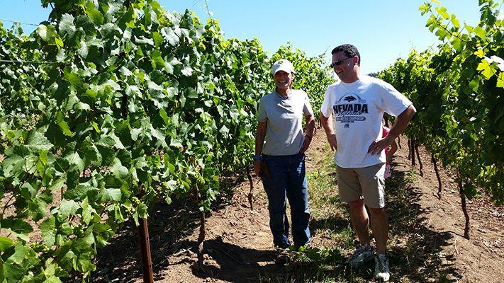 Nemarniki Vineyard touring by Bells Up winemaker Dave.