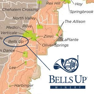 Bells Up is located in the Chehalem Mountains AVA.