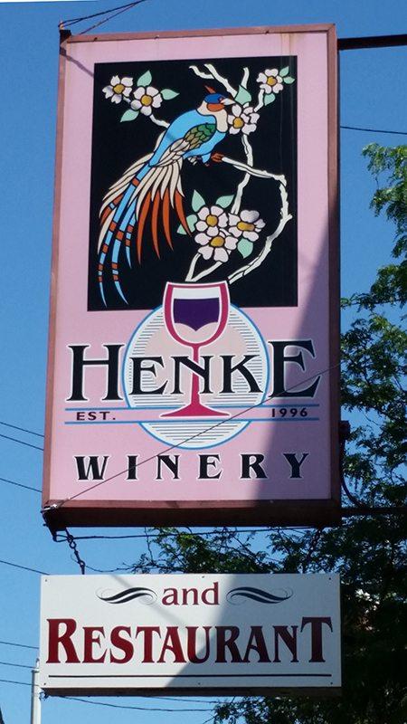 Henke Winery Sign, Cincinnati, Ohio.