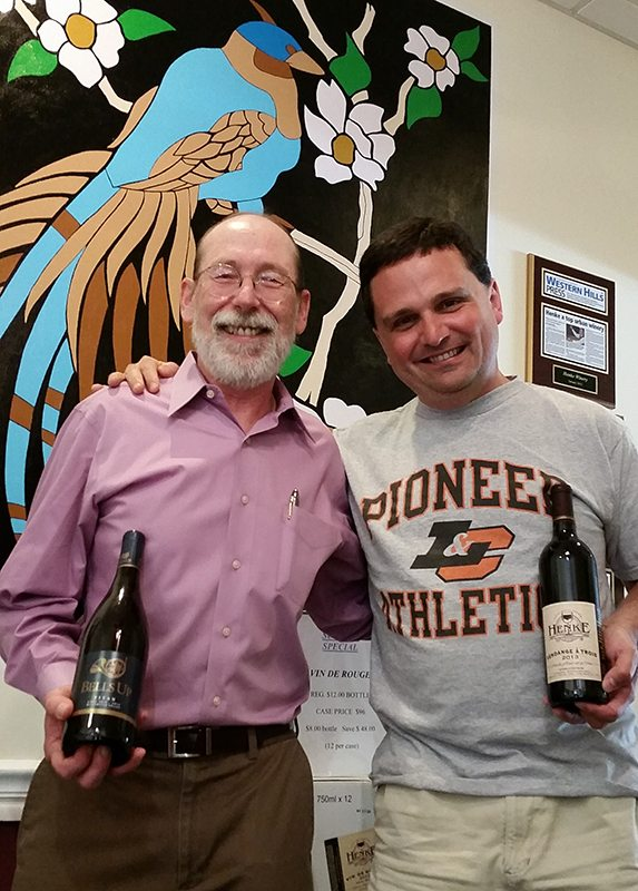 Henke Winery's Joe Henke and Bells Up Winery's Dave Specter, winemakers.