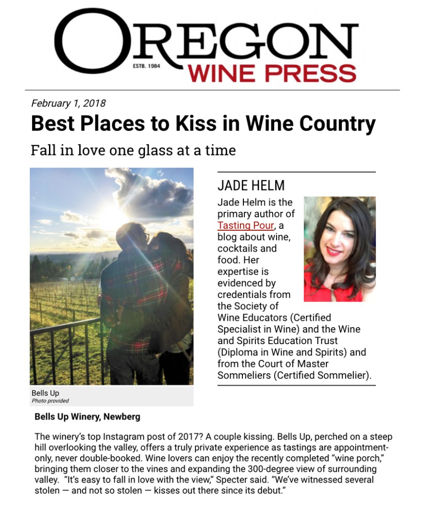 """Oregon Wine Press Picks Bells Up as One of the """"Best Places"""