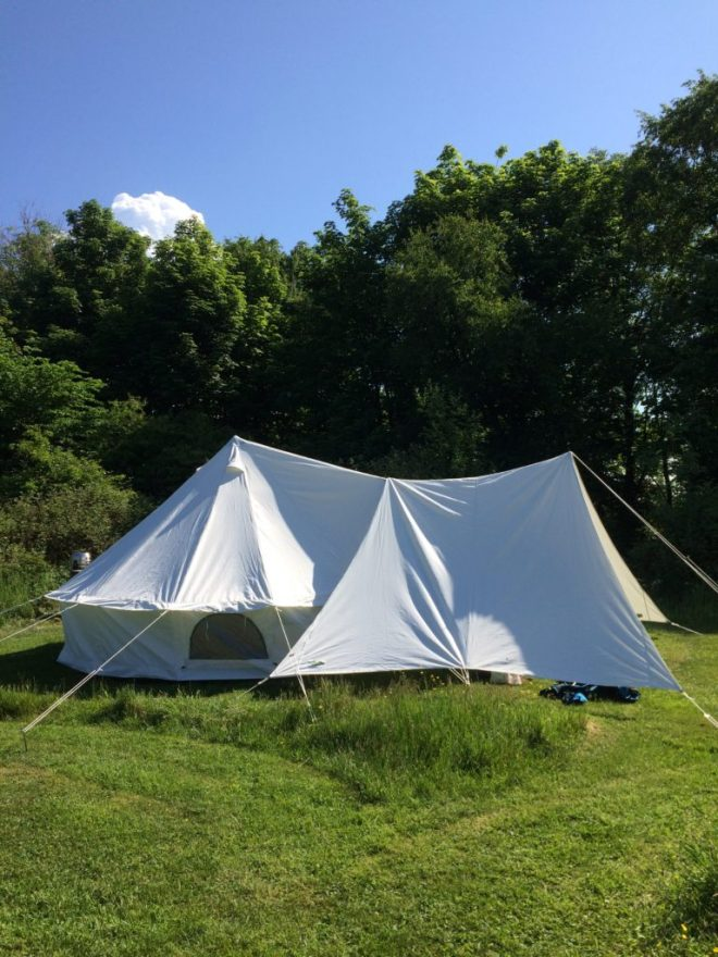 Solace I Bell Tent with Canopy