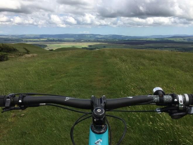 Mountain bike in Pentland Hills