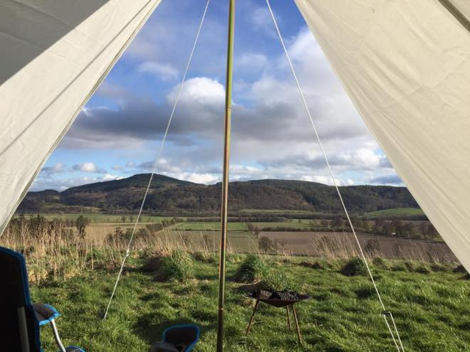 Bell tent | view from bell tent