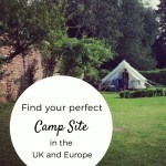 Bell Tent pitched in the walled garden at Ruberslaw Wild Woods campsite, Hawick, Scottish Borders
