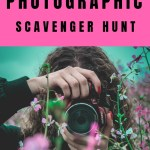 Photographic scavenger hunt - person taking a photo of flowers
