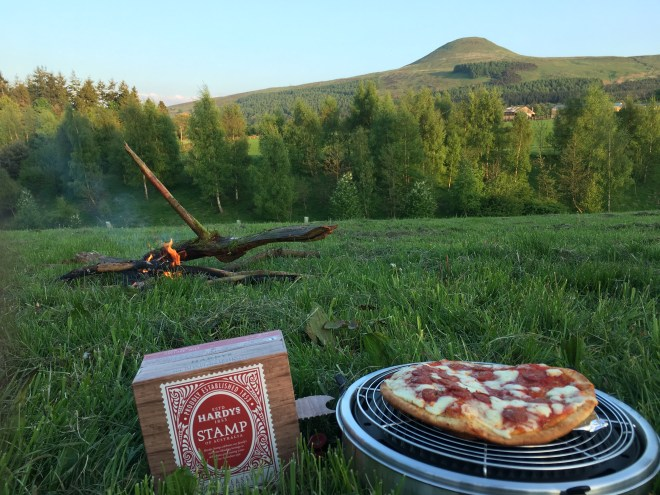 Pizza cooked on the SAFire Roaster barbeque