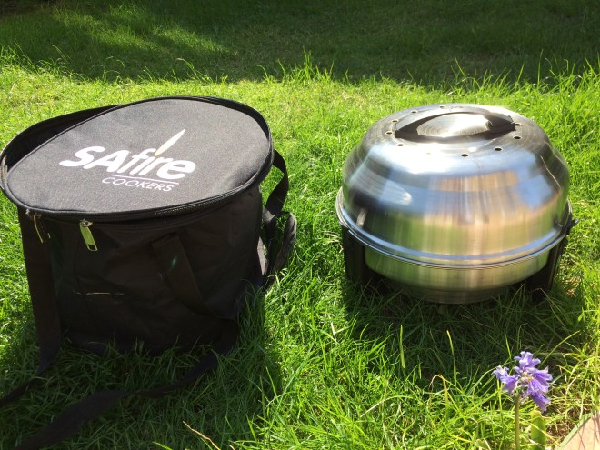SAFire Roaster barbeque and carry bag