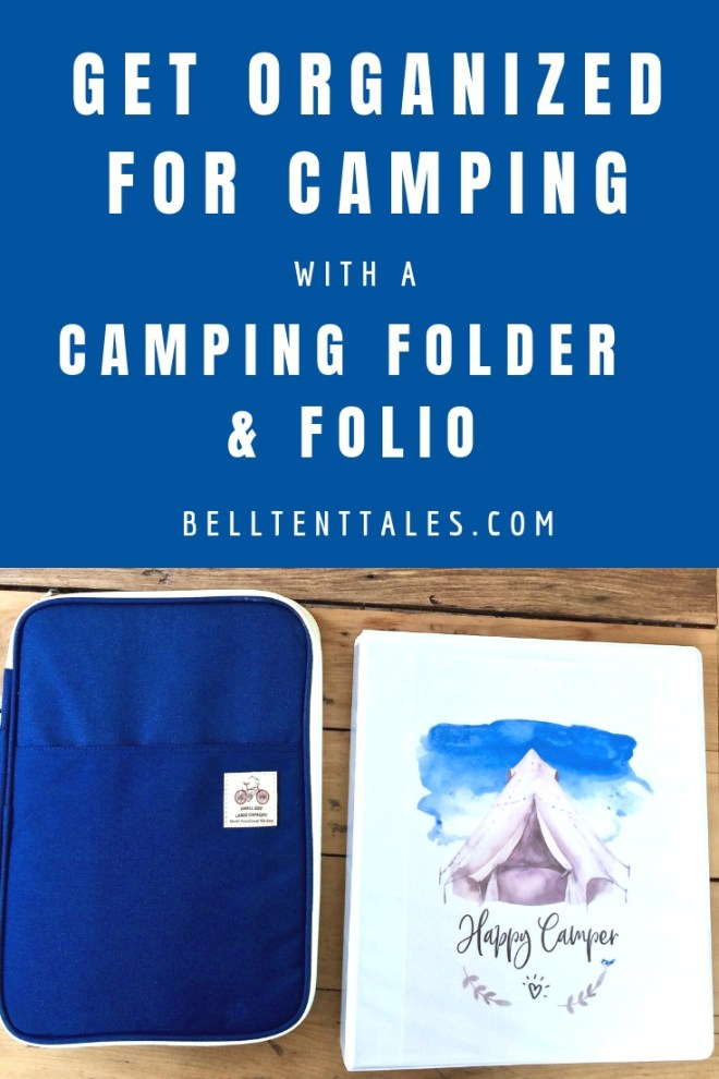 Get organised for camping with a camping folio and folder