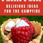 S'more and more - made with waffle cone, raspberries, marshmallows and chocolate chips