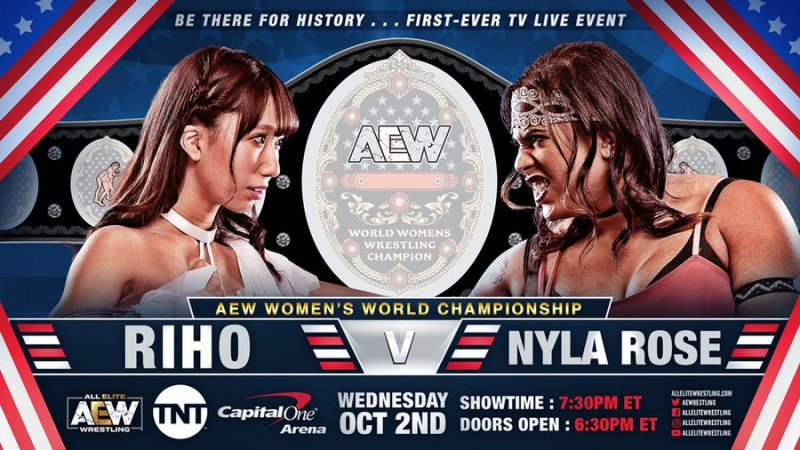 Riho vs. Nyla Rose set for AEW's first women's title match