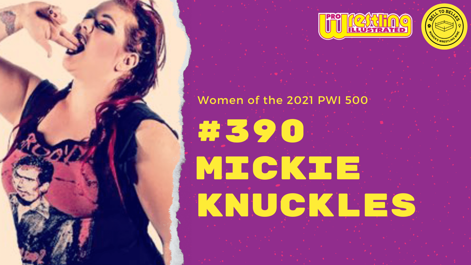 Women of the 2021 PWI 500: #390 Mickie Knuckles