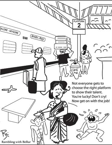 Begging in Railway Station