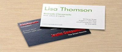 Raised-Print Business Cards