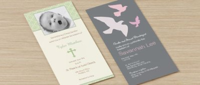 Religious invitation cards